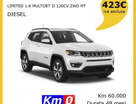JEEP COMPASS LIMITED 1.6 MJET II 120CV 2WD MT