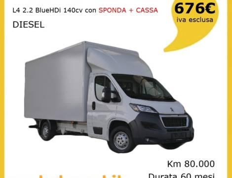 PEUGEOT BOXER 140CV DIESEL CON SPONDA + CASSA